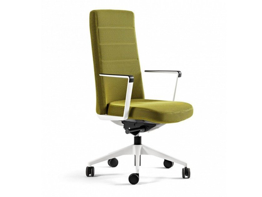 Medium back fabric executive chair with 5-spoke base CRON | Fabric executive chair by ACTIU