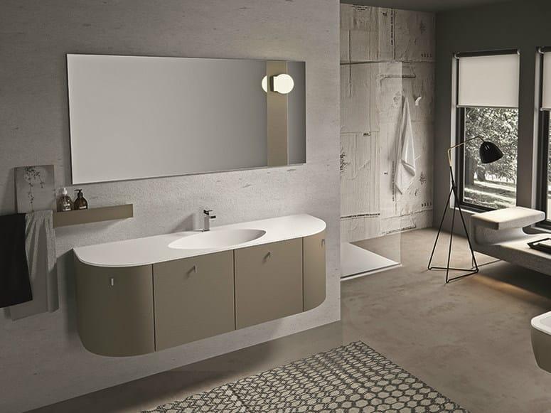 Mobile lavabo laccato sospeso con cassetti giunone 355 edon by agor group - Agora mobili bagno ...