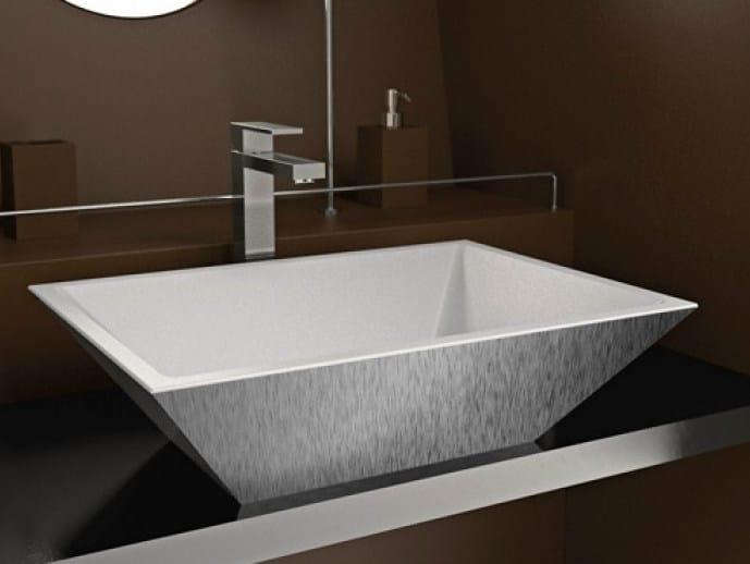 Countertop round washbasin MODO MAX by Glass Design