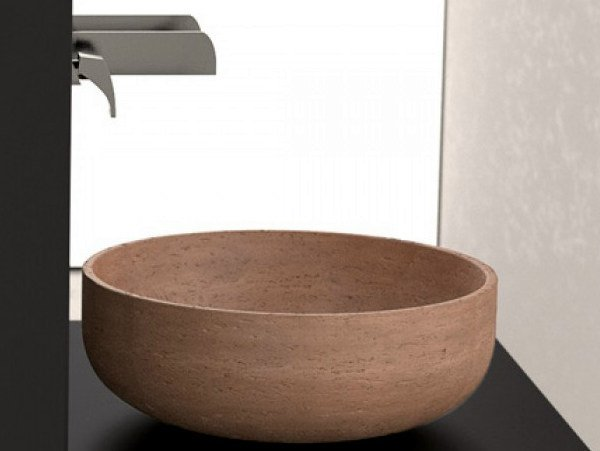 Countertop round washbasin RAPOLANO 45 by Glass Design