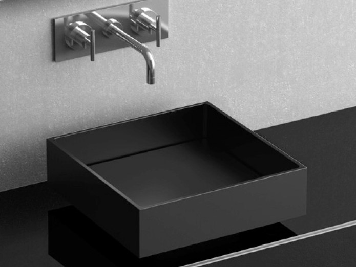 Countertop square washbasin FOUR VISION by Glass Design