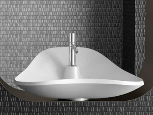 Countertop single washbasin MORPHEO MAX by Glass Design