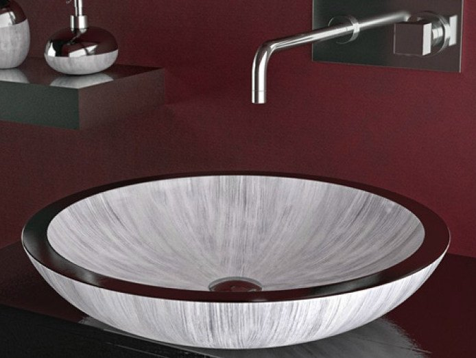 Countertop round washbasin ROUND by Glass Design