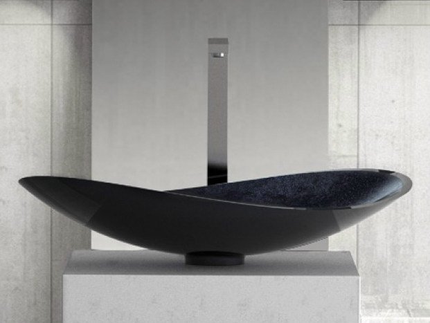 Countertop single washbasin INFINITY STARLIGHT by Glass Design