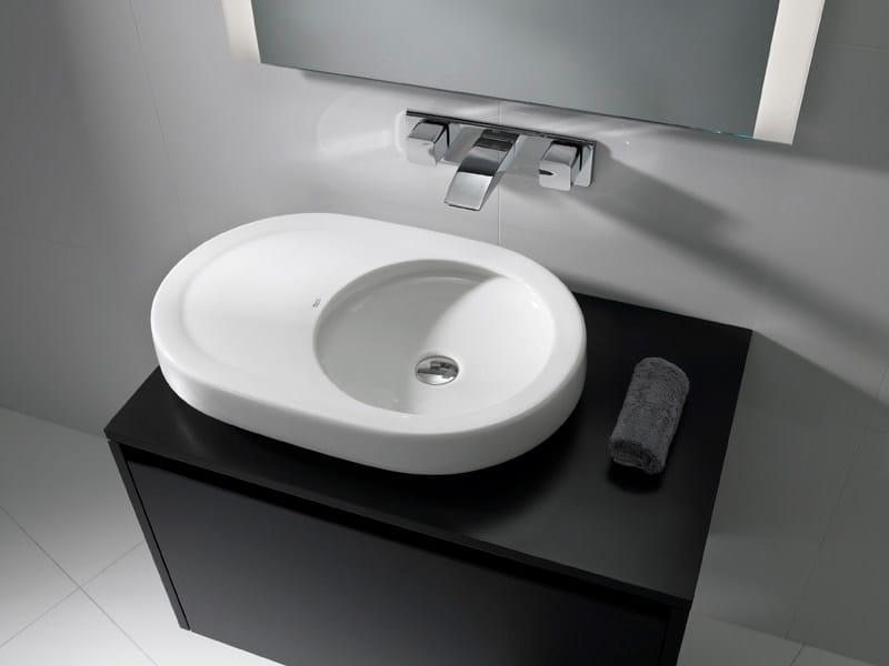 Countertop washbasin ORBITA 63 by ROCA SANITARIO