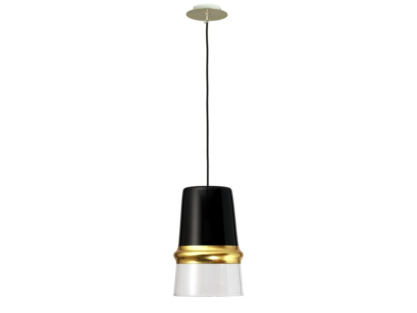 Glass pendant lamp BELLE D'I CHIC by Hind Rabii