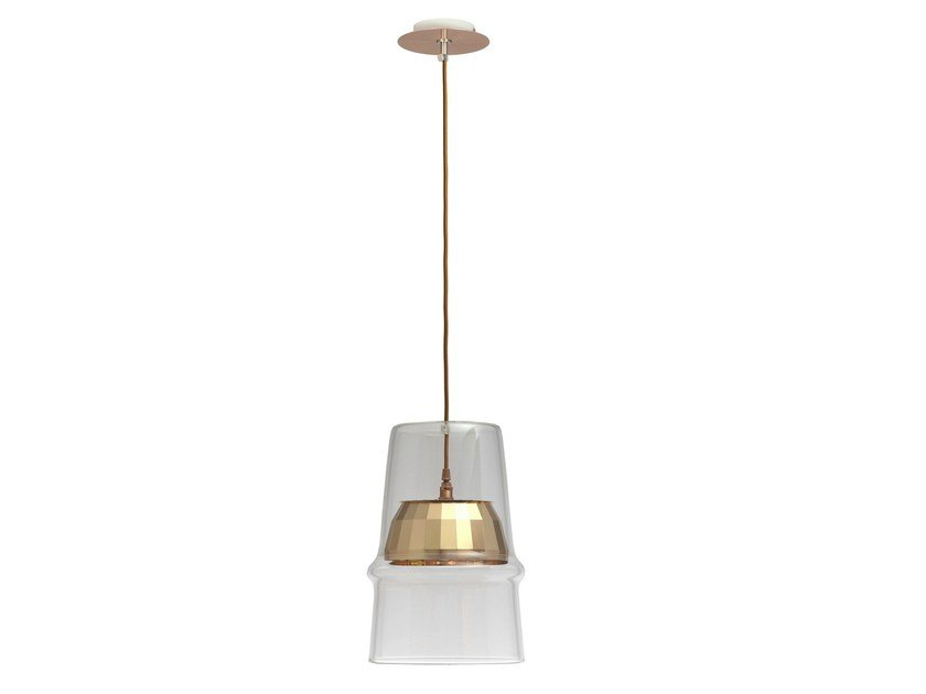 Glass pendant lamp BELLE D'I TECH by Hind Rabii
