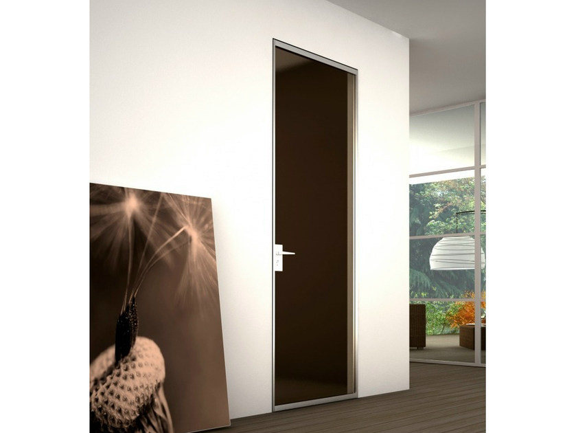 Wooden counter frame for flush-fitting doors P-060 by Metalglas Bonomi