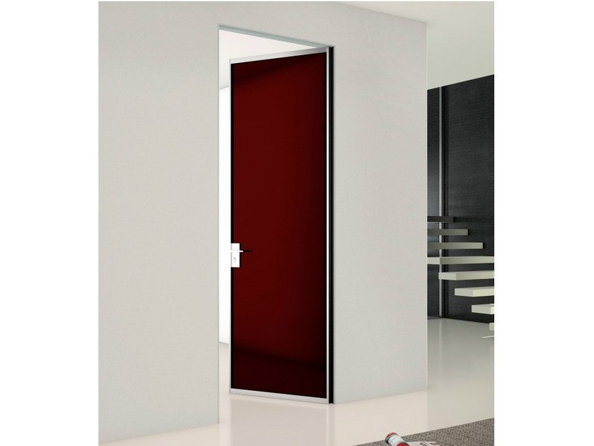 Wooden counter frame for flush-fitting doors P-070 by Metalglas Bonomi