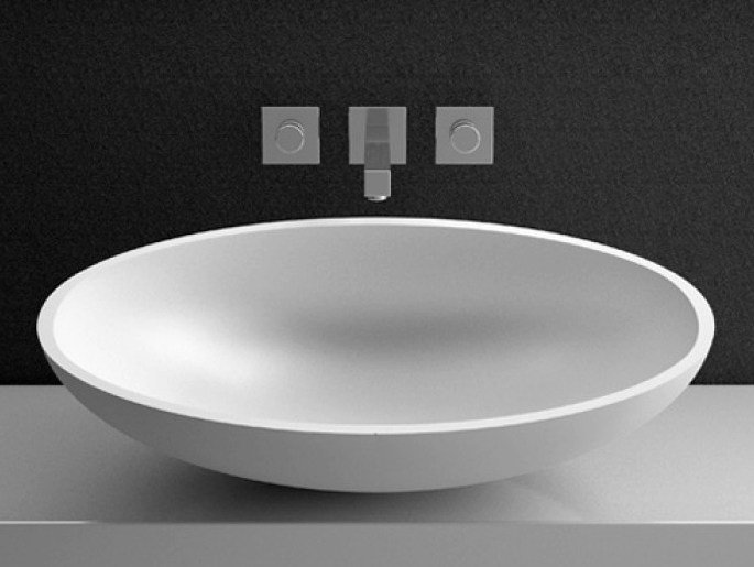 Countertop oval washbasin KOOL OVERSIZE by Glass Design