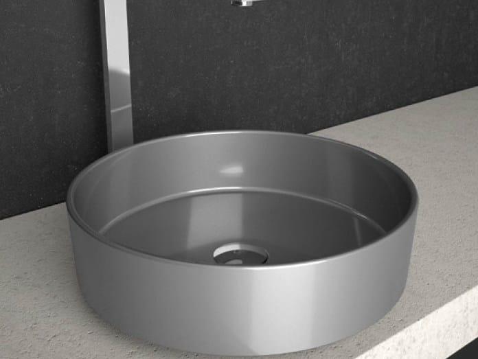 Countertop round washbasin RHO STARLIGHT by Glass Design