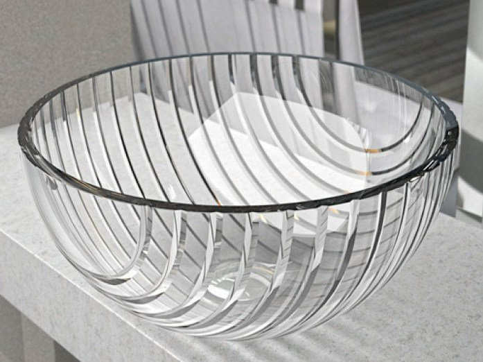 Countertop round crystal washbasin MARINUS by Glass Design