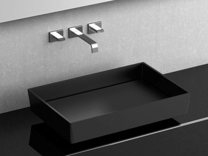 Countertop rectangular washbasin BLADE VISION by Glass Design