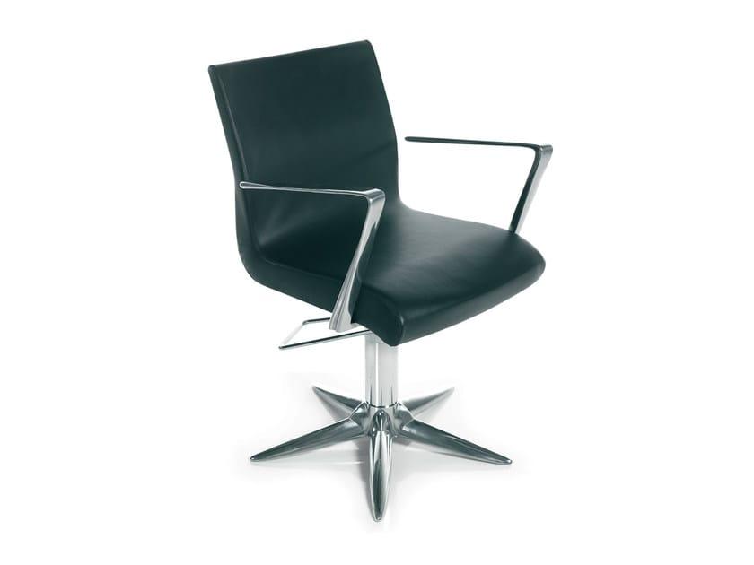 Hairdresser chair ALUOTIS ECOBLACK PARROT by Gamma & Bross