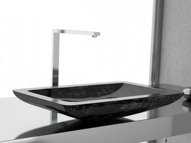 Countertop rectangular washbasin VOGUE by Glass Design