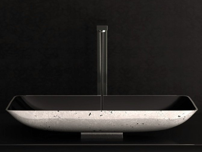 Countertop rectangular washbasin NEK LUX by Glass Design