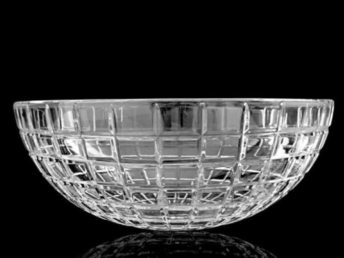Countertop round crystal washbasin LUXOR ROUND by Glass Design