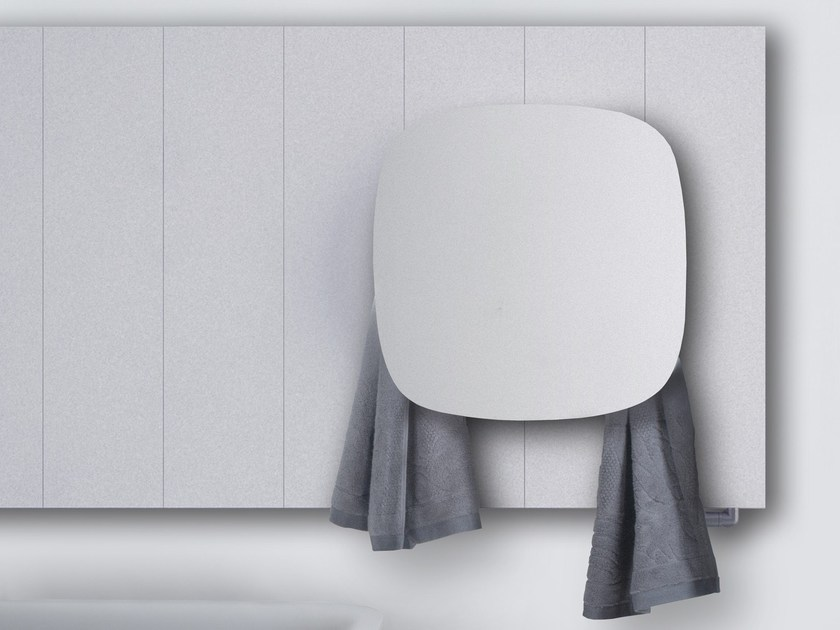 Dual energy aluminium towel warmer SQUARE   Radiator by mg12