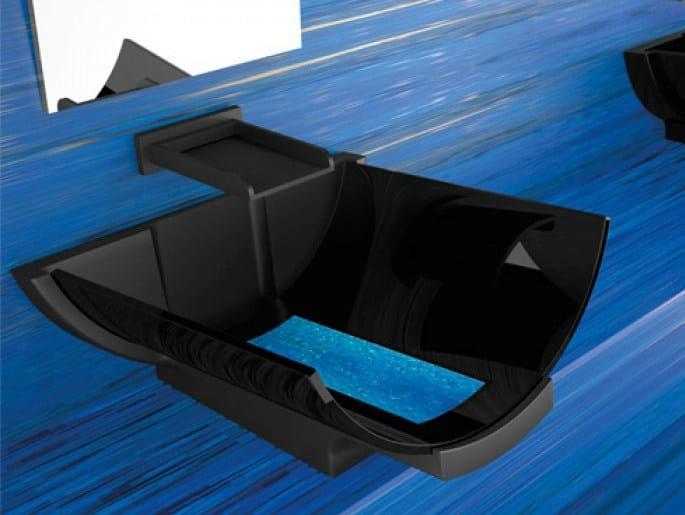 Countertop Vetro Freddo® washbasin CALLA by Glass Design