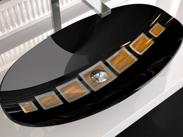 Countertop Murano glass washbasin GONDOLA by Glass Design