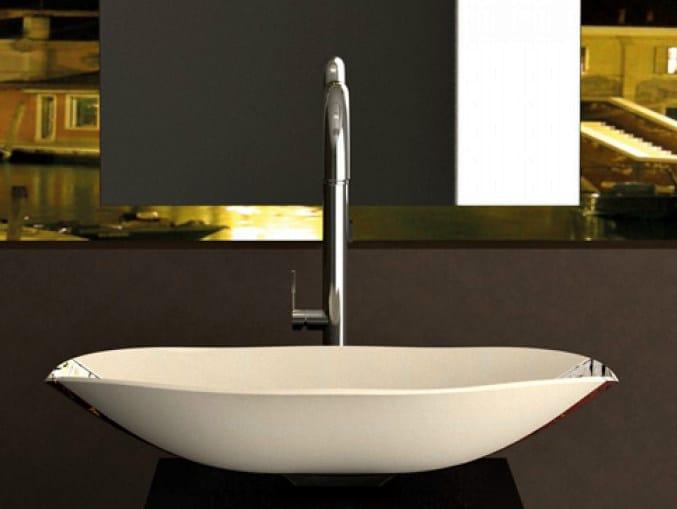 Countertop Murano glass washbasin CARNIVAL by Glass Design