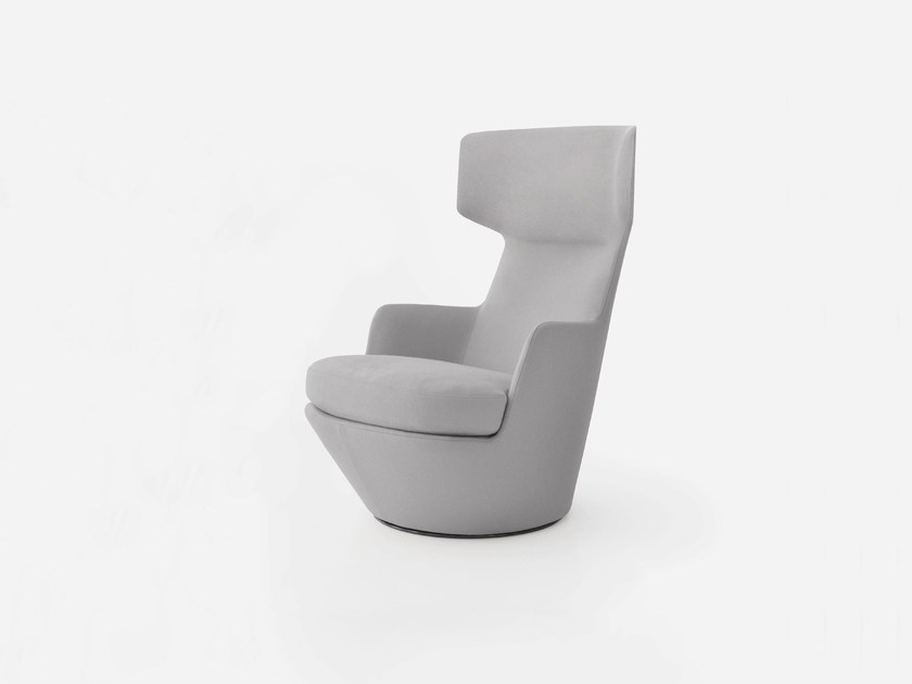 High-back swivel armchair MY TURN by BENSEN