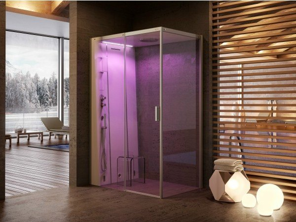 Multifunction crystal steam shower cabin CLOUD 140 by Jacuzzi