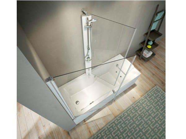 Corner bathtub with shower MIX 80 by Jacuzzi