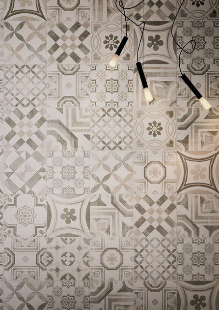 Porcelain stoneware wall floor tiles cementine warm by ceramiche keope - Piastrelle disegnate ...