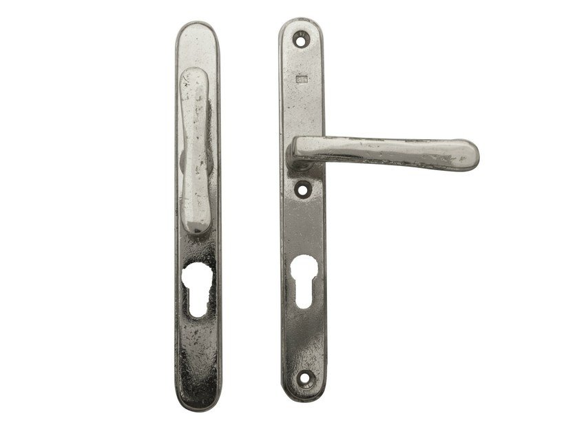 Door handle on back plate with lock PVZ TPH TL | Door handle with lock by Dauby