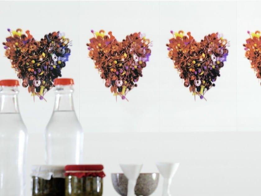 Design polyethylene wall tiles COUP DE FOUDRE by Élitis