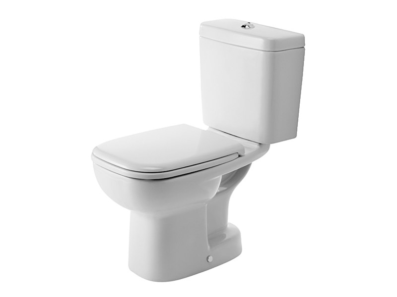 Close coupled ceramic toilet D-CODE   Close coupled toilet by Duravit