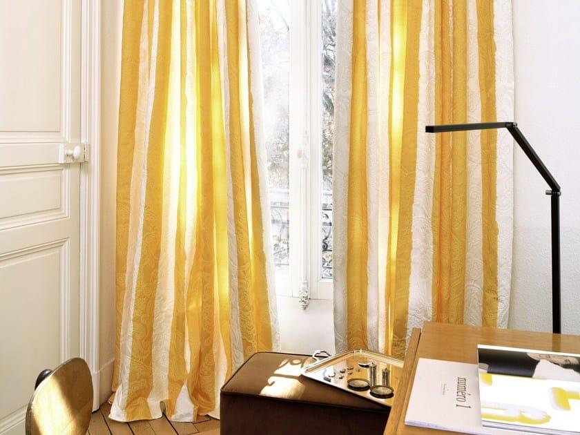 Striped jacquard fabric for curtains TULUM by Élitis
