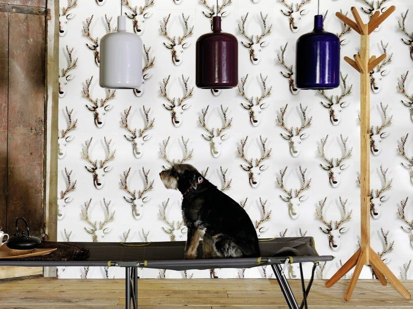 Indoor polyethylene wall tiles RUDOLF by Élitis