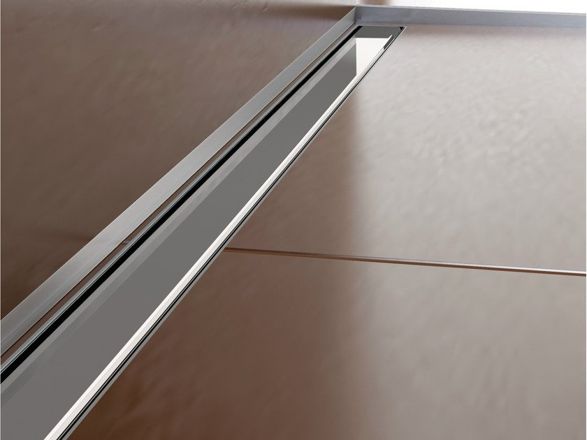 Stainless steel shower channel SLIM DRAIN CLASSIC by PROFILPAS
