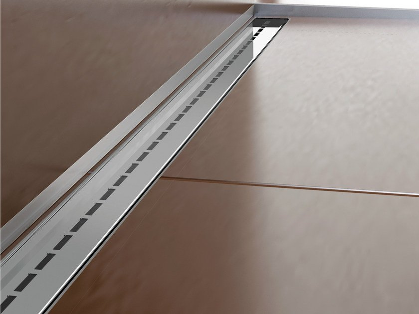 Stainless steel shower channel SLIM DRAIN SINGLE LINE by PROFILPAS