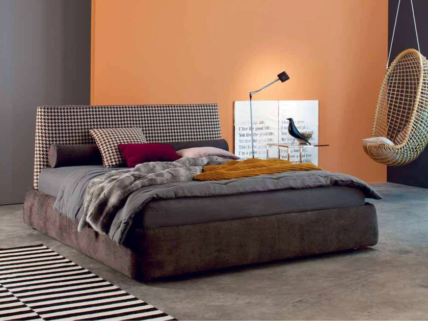 Fabric double bed BYRON by Twils