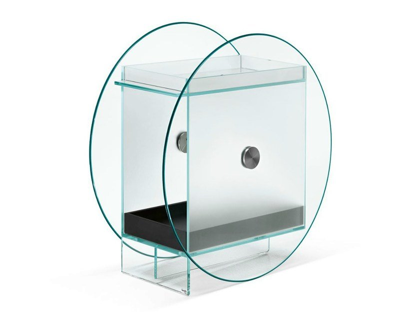 Glass bar cabinet KART by Tonelli Design