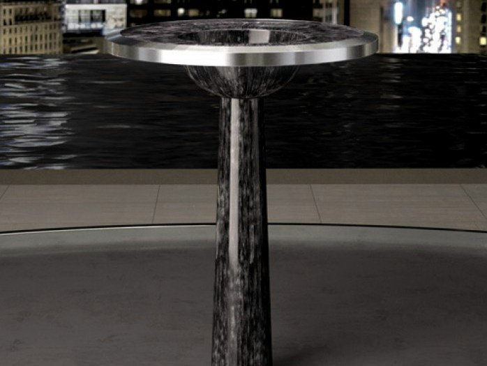 Freestanding round washbasin BJ by Glass Design