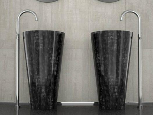 Freestanding single washbasin TOM TOM by Glass Design