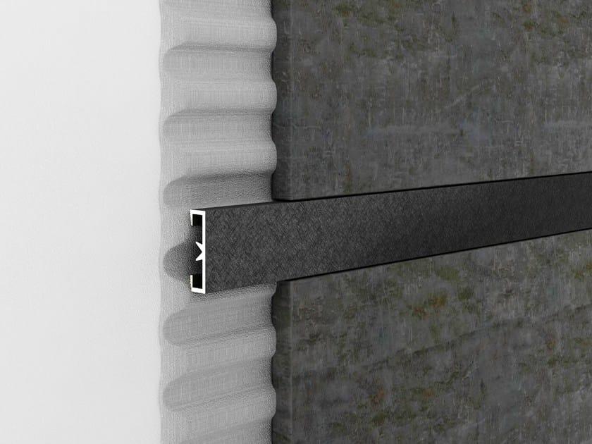 Decorative aluminium edge profile for walls PROLIST LDAD X-DESIGN by PROFILPAS