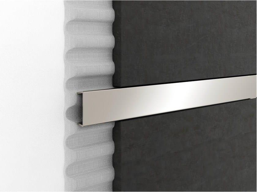 Decorative chrome plated steel edge profile for walls PROLIST LAD/I S-DESIGN by PROFILPAS