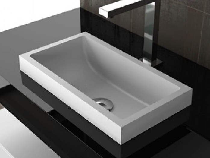 Inset rectangular washbasin KOSTA 1 by Glass Design