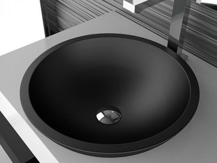 Inset Teknoform® washbasin CIRCUS 43 FL by Glass Design