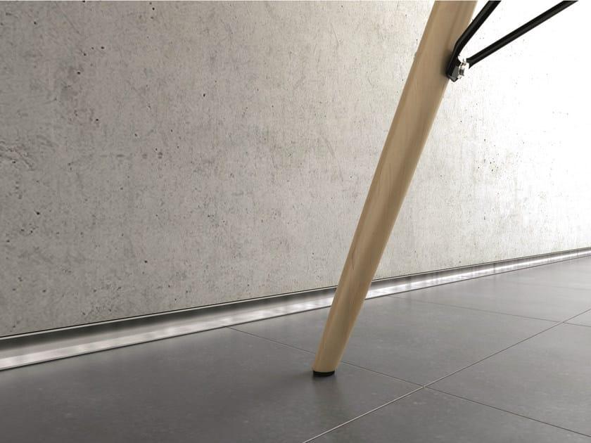 Aluminium Skirting board METAL LINE AF/1 M-DESIGN by PROFILPAS