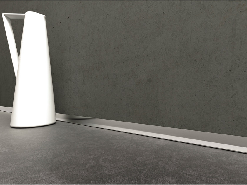 Aluminium Skirting board METAL LINE AL/2 M-DESIGN by PROFILPAS