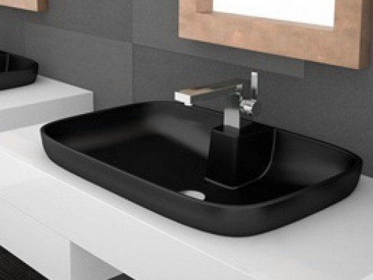 Inset oval washbasin VOLCANO FL by Glass Design