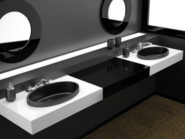 Inset oval washbasin ELLISSE FL LARGE by Glass Design