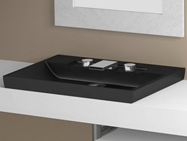 Inset oval washbasin ITALY FL by Glass Design