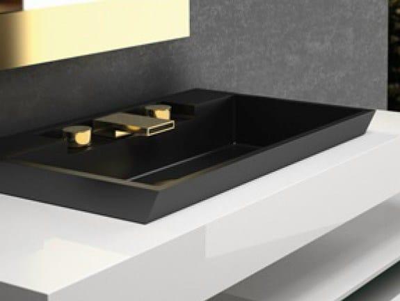 Inset rectangular washbasin RIV FL by Glass Design